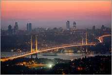Gallery Print  Bosporus-Bridge at Night (Istanbul / Turkey) - gn fotografie