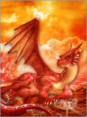Gallery Print  Roter Power Drache - Dolphins DreamDesign