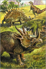 Gallery Print  Dinosaurier - English School