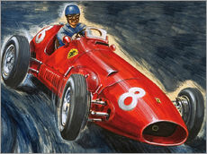 Gallery Print  Alberto Ascari fährt Maserati - English School