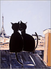 Gallery Print  Katzen in Paris - JIEL