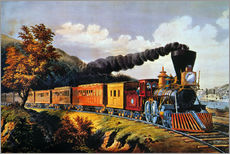 Wandsticker  American Express Train. - N. & J.M. Currier & Ives