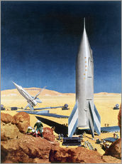 Gallery Print  Mars Mission, 1950s. - Chesley Bonestell