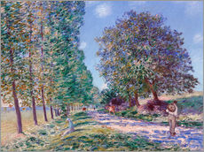 Gallery Print  Pappel-Allee in Moret am Loing - Alfred Sisley