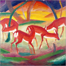 Gallery Print  Rote Rehe - Franz Marc