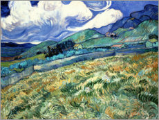 Premium-Poster  Berglandschaft hinter dem Hospital Saint-Paul - Vincent van Gogh