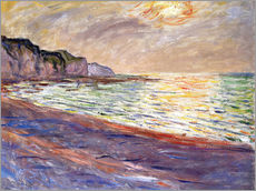 Gallery Print  Strand in Pourville, Sonnenuntergang - Claude Monet