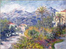Wandsticker  Villas at Bordighera - Claude Monet