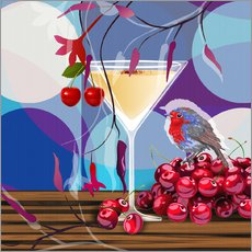 Gallery Print  Vintage Birdy Cocktail IV - Mandy Reinmuth