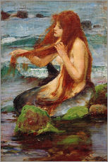 Wandsticker  Eine Nixe - John William Waterhouse
