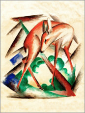 Alubild  Reh (Rotes Reh) - Franz Marc