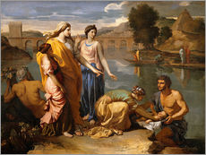 Gallery Print  Auffindung des Moses - Nicolas Poussin