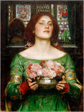 Gallery Print  Rosenblütensammeln - John William Waterhouse