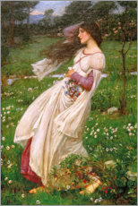 Wandsticker  Windblumen - John William Waterhouse