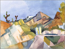 Wandsticker  Felsige Landschaft - August Macke