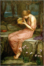 Wandsticker  Psyche öffnet die goldene Box - John William Waterhouse