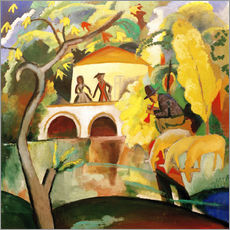 Wandsticker  Rokoko - August Macke