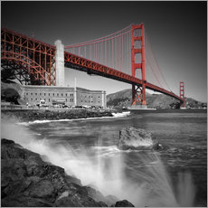 Gallery Print  Golden Gate Bridge Fort Point - Melanie Viola