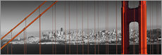 Wandsticker  Golden Gate Bridge Panoramic - Melanie Viola