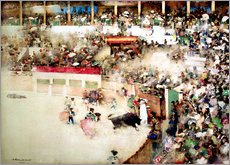 Wandaufkleber  The Little Bull Fight. 'Bravo Toro', Seville, 1894 - Arthur Melville