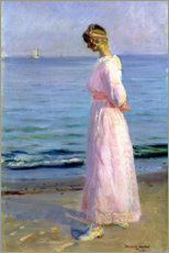 Premium-Poster Girl in a Pink Dress, 1914