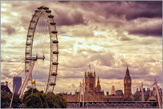 Gallery Print  London Eye & Big Ben - Stefan Becker