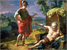 Wandsticker  Alexander and Diogenes, 1818 - Nicolas Andre Monsiau