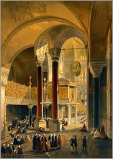Wandaufkleber  Haghia Sophia, plate 8: the Imperial Gallery and box, engraved by Louis Haghe published 1852 - Gaspard Fossati