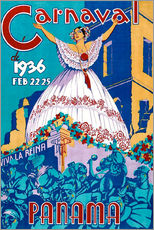 Wandsticker  Carnaval Panama 1936 - Travel Collection