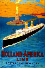 Gallery Print  Holland America Line - Rotterdam nach New York - Travel Collection