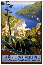 Gallery Print  Italien ? La Riviera Italienne - Travel Collection
