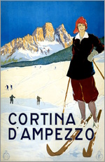 Wandsticker  Cortina d'Ampezzo - Travel Collection