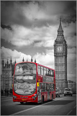 Wandsticker  LONDON Red Bus and Big Ben - Melanie Viola