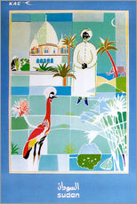 Gallery Print  Sudan Vintage Reiseplakat - Travel Collection