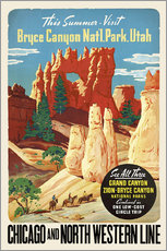 Wandsticker  Bryce Canyon National Park Utah - Travel Collection