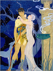 Wandsticker  Venus and Adonis - Georges Barbier