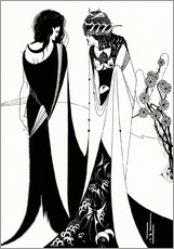 Wandsticker  Salome mit Mutter Herodias - Aubrey Vincent Beardsley