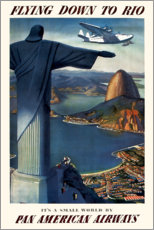 Wandsticker  Fliegen bis Rio - Travel Collection