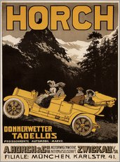Gallery Print  Horch Autos - Donnerwetter tadellos - Advertising Collection