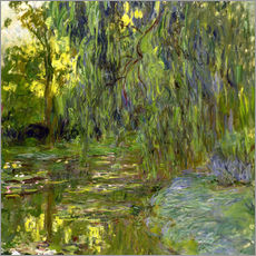 Wandsticker  Trauerweide, Der Seerosenteich in Giverny - Claude Monet