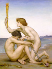 Wandsticker  Phosphorus und Hesperus, 1882 - Evelyn De Morgan