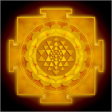 Wandsticker Golden Sri Yantra