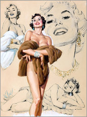 Wandsticker  Glamour Pin Up-Studie - Al Buell