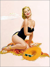 Gallery Print  Pin Up - Sonnenanbeter - Al Buell