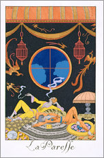Gallery Print  La Paresse, 1924 - Georges Barbier