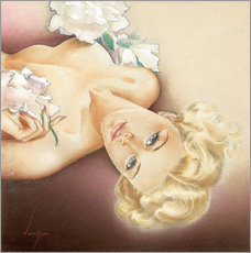Wandsticker  Glamour Pin Up - Alberto Vargas