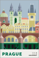 Wandsticker  prague skyline - Nigel Sandor