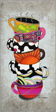 Wandsticker  Stacked Hot Cuppa Collection 1 - Megan Duncanson