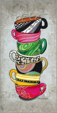 Wandsticker  Stacked Hot Cuppa Collection 2 - Megan Duncanson