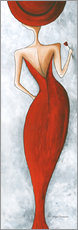 Wandsticker  Lady in red - Megan Duncanson